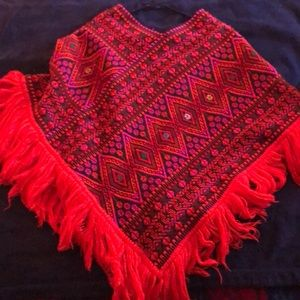 Other - Vintage hand stitched poncho